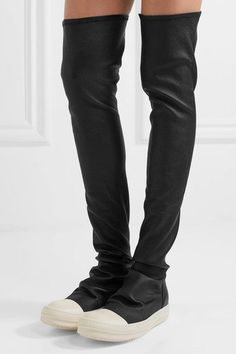 Rick Owens - Stretch-leather Over-the-knee Boots - Black - IT36