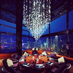 "Ozone, Hong Kong: World's highest bar designed by a Tokyo firm as an ""Edenic Experiment"". Bars & Restaurants Directory Http://www.IWantToTaste.com"