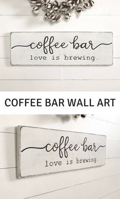 "Coffee sign | coffee bar | wood sign | farmhouse wall   decor | farmhouse sign | farmhouse kitchen decor | rustic wood sign |   28"" x 9.25"" #homedecor #coffee #affiliate"