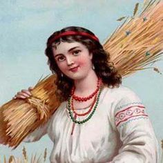Girl with sheaves