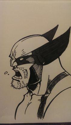 Wolverine marker sketch by wsjoop1119.deviantart.com on @deviantART