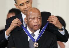President Obama awards the 2010 Presidential Medal of Freedom to John Lewis