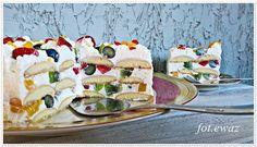 Ewa w kuchni: Tort owocowy bez pieczenia
