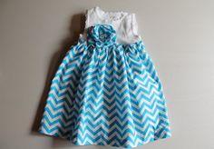 Chevron Dress baby girl chevron dress toddler girl by BeesBabyTs