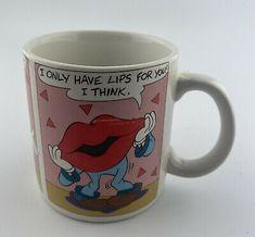 Vintage Three Cheers By Applause Lips Love Coffee Mug # 26071  | eBay