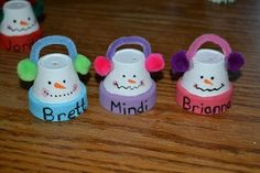 mini clay pot crafts pipe cleaners | mini clay pots, pipe cleaners, pompoms, and ... | Christmas and Winte ...