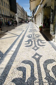 Portuguese Alheira, Lardons and Asparagus Pasta... And things I miss about Lisbon | by Ishay Govender-Ypma, Food and the Fabulous 18.07.2012 | Photo: ornate pavement Lisbon image #Portugal