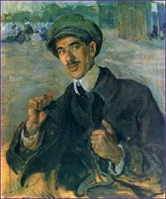 Kornej Tsjoekovski (31 maart 1882 – 28 oktober 1969) - Portret door Isaak Brodsky, 1913