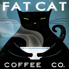 East Urban Home 'Cat Coffee No City' by Ryan Fowler Vintage Advertisement on Wrapped Canvas Size: