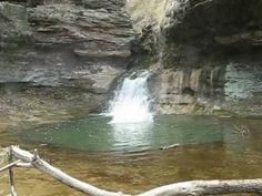 Cliff Jumping in Ohio's Rockmill Falls, Fairfield county. April 40 ft.