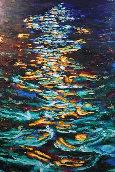 Image result for dark water painting