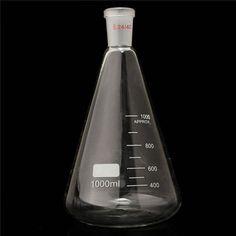 Najlepsza Cena 24/40 1000 ml/Butelka 1L Szkła Erlenmeyera Kolby Stożkowej Szkło Laboratoryjne Chemii