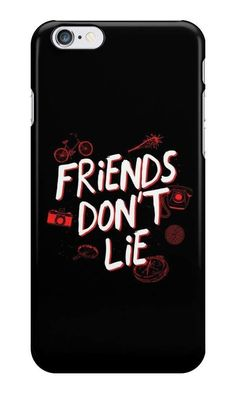 Our Friends Don't Lie - Stranger Things Phone Case is available online now for just £5.99. Fan of Stranger Things? You'll love our Friends Don't Lie - Stranger Things phone case, available for iPhone, iPod & Samsung models. Material: Plastic, Production Method: Printed, Authenticity: Unofficial, Weight: 28g, Thickness: 12mm, Colour Sides: Black, Compatible With: iPhone 4/4s   iPhone 5/5s/SE   iPhone 5c   iPhone 6/6s   iPhone 7   iPod 4th/5th Generation   Galaxy S4   Galaxy S5   Galaxy