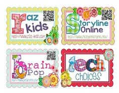 Awesome FREEBIE! Print, laminate, and attach cards to a binder ring. Students can flip through the cards, scan the QR codes and easily navigate to websites.