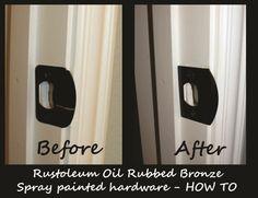 Good How To Spray Paint Hardware Door Knobs Shower Bathroom Fixtures Faucets  With Rustoleum Oil Rubbed Bronze