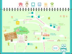 Map for a school design and illustration by Cecillia Hidayat