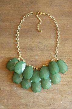 seaglass bib necklace