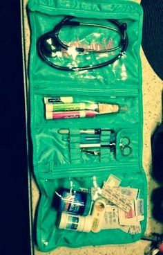 What a great idea to keep everything together...much better than a plastic box. Nursing Student