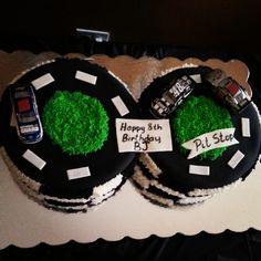 Cake at a Race Car Party #racecar #partycake