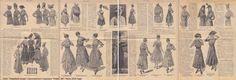 """1916. """"Новейшія моды"""": приложение к журналу """"Нива"""". №?. Июнь 1916 года."""