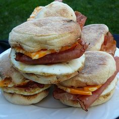 "Muffin Morning Makers I ""These breakfast sandwiches have been a family favorite for years and we have several variations."""