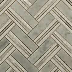 Adagio White Carrera With Thassos MAIN - Wall / Stripes - Tile Bar