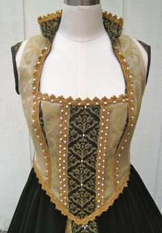 Beautiful beaded Renaissance Bodice and Underskirt by FourQueens