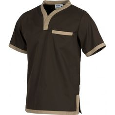 WorkTeam B9600 Casaca de manga corta. Un bolso de pecho interior. Combinada. Spa Uniform, Scrubs Uniform, Men In Uniform, Nursing Jackets, Scrubs Pattern, Housekeeping Uniform, Stylish Scrubs, Restaurant Uniforms, Scrubs Outfit