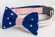 4th of July Bow Tie Collars!