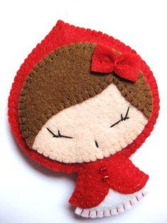 Spilla Cappuccetto Rosso