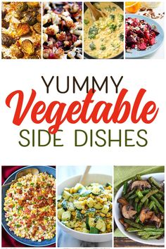 Over 20 yummy vegetable side dishes that even your kids will gobble up! Delicious ways to add more vegetables into your diet. Best Lunch Recipes, Fall Recipes, Vegetarian Recipes, Cooking Recipes, Favorite Recipes, Yummy Recipes, Recipies, Home Recipes, Amazing Recipes
