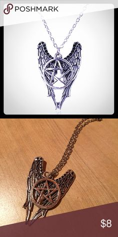 Supernatural Necklace Looks exactly like pictured. Great for supernatural fans. Long necklace. Lobster clasp Jewelry Necklaces
