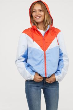 731ef217b66a Color-block Jacket - Light blue - Ladies   H M US 1 Windbreaker Jacke,