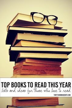 Tips for the Book Reader- lists for the new year, fun ideas and printables www.thirtyhandmadedays.com