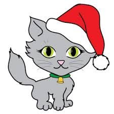 christmas cats clipart cute kitty png xmas cat graphics coloring rh pinterest com christmas cat clipart black and white christmas cat clipart black and white