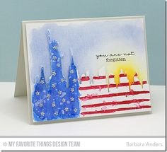 Forget Me Not, New York Skyline Die-namics - Barbara Anders  #mftstamps