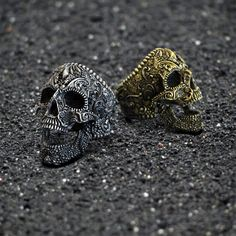 Sugar Skull, Biker ring, flower skull ring, Flower skull, skull ring, silver, Skulls and Bones, men ring, unique, made to order, custom made Gold Models, Metal Models, Gothic Rings, Gothic Jewelry, Polish Models, Biker Rings, Flower Skull, Watch Model, Skull And Bones