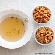 Klare Suppe mit Frittaten Cantaloupe, Soup, Fruit, Ethnic Recipes, Easy Meals, Chef Recipes, Soups