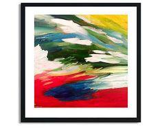 Pittura di colore primario, espressionismo astratto, quadri arte stampa, stampa di arte astratta, Giclee astratto stampa, astratto opera d'arte, arte moderna