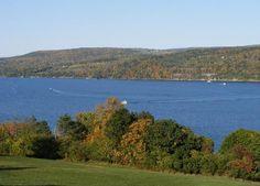 View of Seneca Lake from balcony at Glen Motor Inn