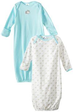 bbff295ed53 Gerber Unisex-Baby Newborn 2 Pack Hippo Gown
