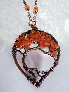 Провод обернутый дерево жизни ожерелье Кулон PerfectlyTwisted, $60.00