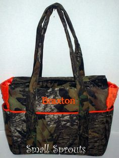 Custom Camo-Mossy oak, Real Tree AP, Advantage Max 4,-Fancy Diaper Bags-Match Your Car Seat Cover or Stroller Cover via Etsy