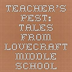 Teacher's Pest: Tales From Lovecraft Middle School Educators' Guide Middle School Series, Activities, Education, Math, Books, Libros, Math Resources, Book, Onderwijs