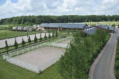 Dream arena for sure. Equestrian Stables, Horse Stables, Horse Farms, Dream Stables, Dream Barn, Horse Barn Designs, Horse Arena, Horse Barn Plans, Farm Layout