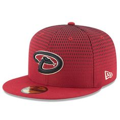 8e2b93288d3 Men s New Era Red Arizona Diamondbacks Alternate 3 Authentic On Field  59FIFTY Performance Fitted Hat