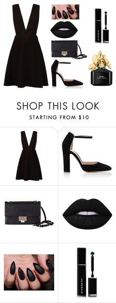 """Untitled #60"" by tenuunl on Polyvore featuring New Look, Gianvito Rossi, Jimmy Choo, Lime Crime, Givenchy and Marc Jacobs"