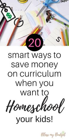 20 ways to save money on homeschool curriculum. Don't let the cost keep you from homeschooling your kids.
