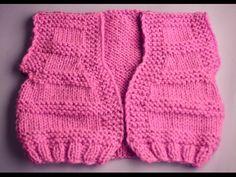 YouTube Cardigan Bebe, Baby Vest, Leg Warmers, Crochet, Lace Shorts, Gloves, Knitting, Children, Baby Jackets