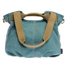 Women handbags Fashion Casual Vintage Canvas Tote Shoulder Bags Bolsa Feminina…